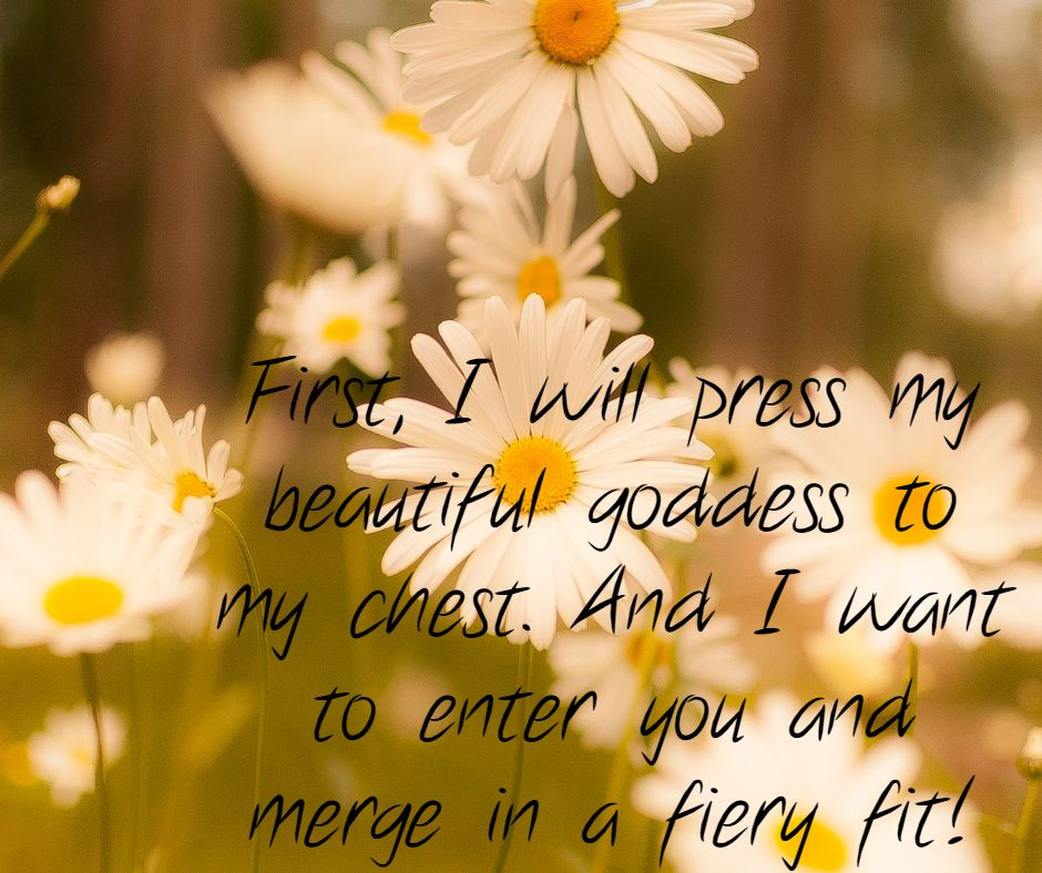 First, I will press my beautiful goddess to my chest. And I want to enter you and merge in a fiery fit!