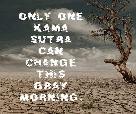 Only one Kama Sutra can change this gray morning.