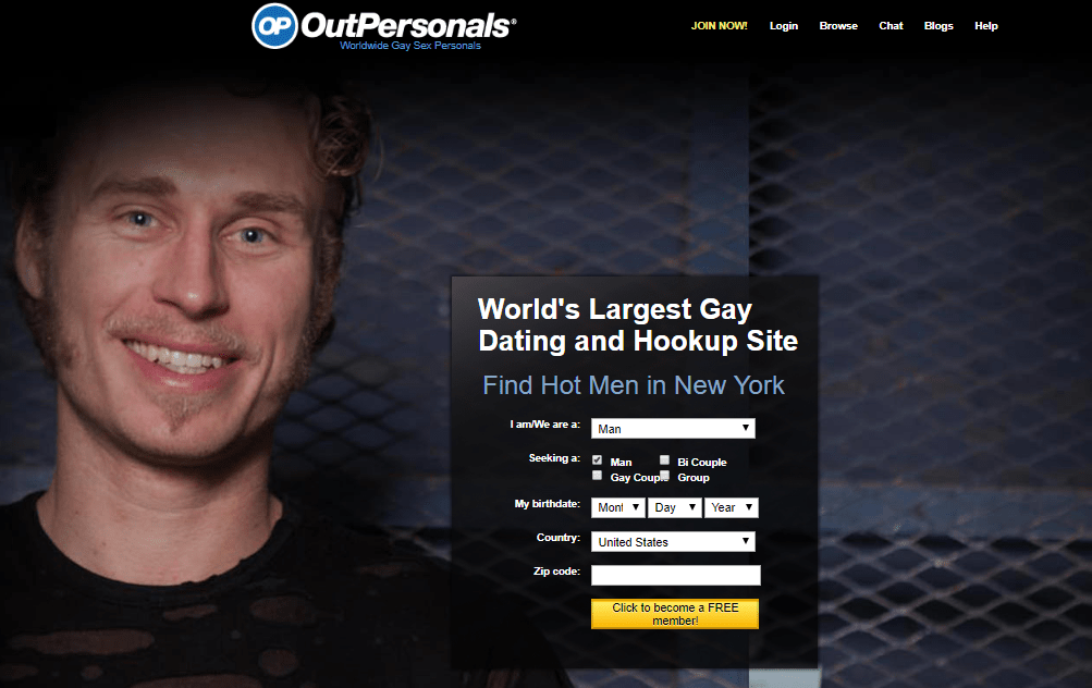 outpersonals start page