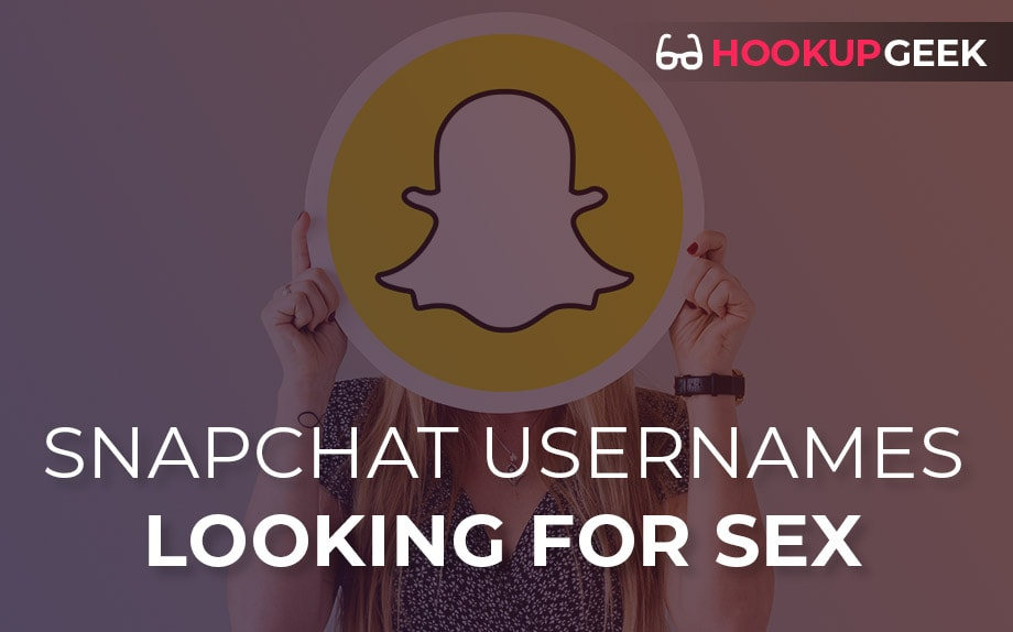 2020 List SnapChat Usernames Looking For Sex